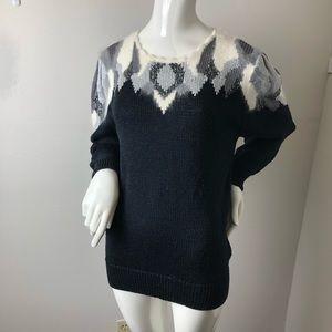 Vintage angora blend 80's sweater Puff sleeves